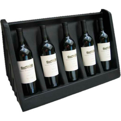 "MasonWays™ WD 24 5-Bottle Wine Display 24""W x 12""D x 3""H"