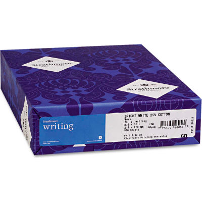 """Strathmore 0.25 Cotton Business Stationery 300029, 8-1/2"""" x 11"""", Ivory, 500 Sheets/Ream"""