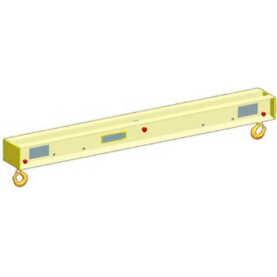 M&W 4' Ultra Low Headroom Lift Beam 2000 Lb. Capacity