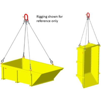 """M&W Heavy Duty Steel Vented Container with Sloped End 96"""" x 48"""" x 36"""" - 6000 Lb. Capacity"""