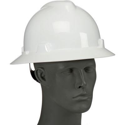 Full Brim Hard Hat With Wheel Ratchet Suspension, White, SWX00358