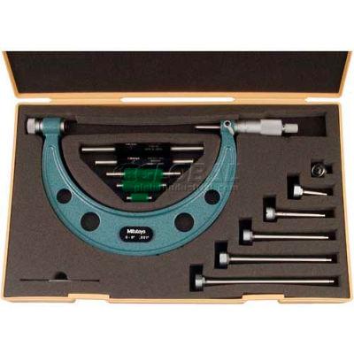 "Mitutoyo 104-137 0-6"" 12 Piece  Interchangeable Anvil Mechanical Micrometer"