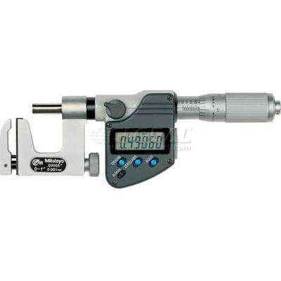 """Mitutoyo 317-351-30 Uno-Mike 0-1""""/25.4MM IP65 Interchangeable Anvil Digital Micrometer W/Data Output"""