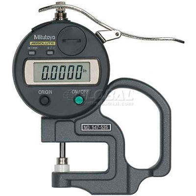 "Mitutoyo 547-526S 0-.47"" / 0-12MM Digimatic Digital Thickness Gage (.0001"" Resolution)"