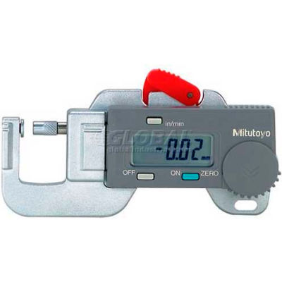 """Mitutoyo 700-118 0-.50"""" / 0-12.7MM Digimatic Compact  Digital Thickness Gage"""