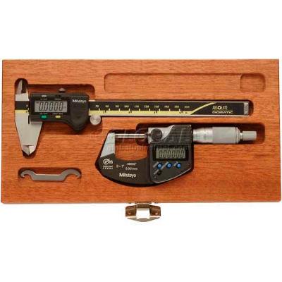 Mitutoyo 64PKA076B Digimatic 2-Piece Caliper & Micrometer Tool Kit (500-196-30 & 293-340-30)