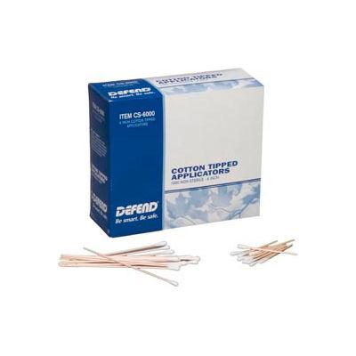 """Defend® Non-Sterile Cotton Tipped Applicators, 6""""L Dowel, 1000/Box"""