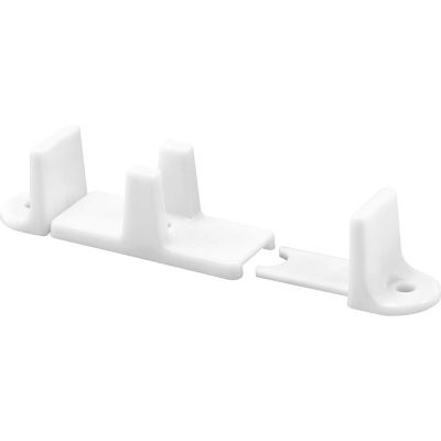 Prime-Line N 6760 Adjustable Bypass Door Guide with 1-Inch Height, White,(Pack of 2)
