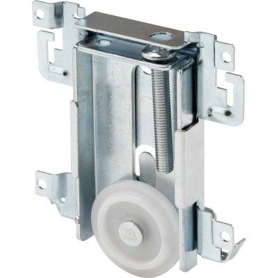 Prime-Line N 6790 Mirror Door Roller Assembly, 1-7/16 in., Steel Housing, FLAT Plastic Wheel