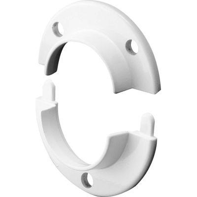 Prime-Line N 7050 Closet Pole Socket, Cast, White, 2-Piece
