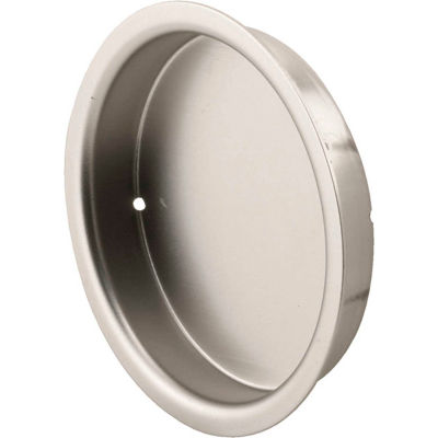 Prime-Line N 7297 Closet Door Pull, 2-1/8-Inch, Solid Brass, Satin Nickel Finish,(Pack of 2)