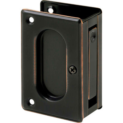Prime-Line N 7364 Pocket Door Passage Pull, 3-3/4-Inch, Classic Bronze