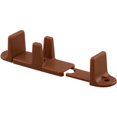 Prime-Line N 7384 Bypass Door Guide, 1-Inch High, Adjustable, Dark Brown,(Pack of 2)