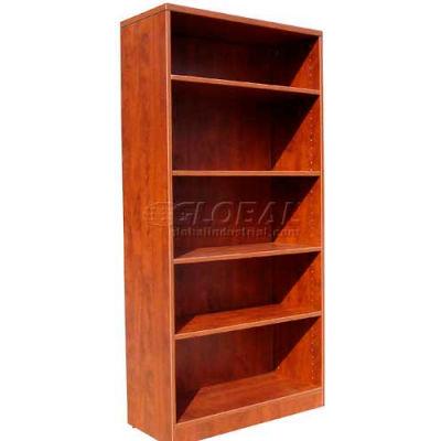"Boss 5-Shelf Bookcase, 31""W x 14""D x 65-1/2""H, Cherry"