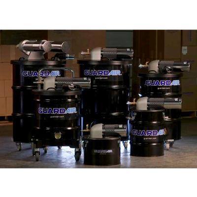 """Guardair 30 Gallon D Pneumatic Vacuum Unit w/ 1.5"""" Inlet & Attachment Kit - N301DC"""