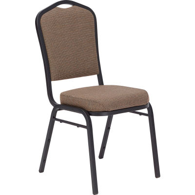 NPS Silhouette Banquet Stacking Chair - Fabric - Taupe - 9350 Series - Pkg Qty 4