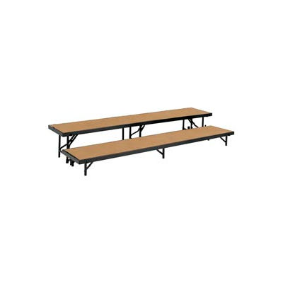 "2 Level Straight Riser with Hardboard - 96""L x 18""W - 8""H & 16""H"