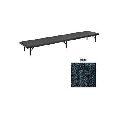 "Riser Tapered with Carpet - 60""L x 18""W x 8""H - Blue"