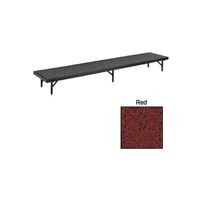 """Riser Tapered with Carpet - 60""""L x 18""""W x 8""""H - Red"""