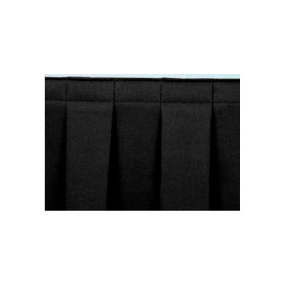 "4'L Box-Pleat Skirting for 16""H Stage - Black"