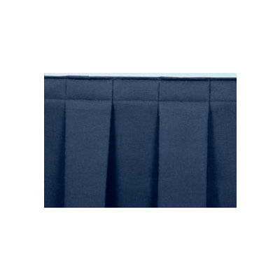"""8'L Box-Pleat Skirting for 16""""H Stage - Blue"""