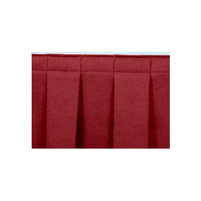 """4'L Box-Pleat Skirting for 24""""H Stage - Red"""