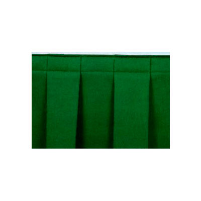 """4'L Box-Pleat Skirting for 8""""H Stage - Green"""