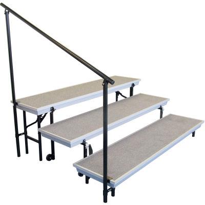 Side Guard Rail for 3-Level TransPort Risers - Black