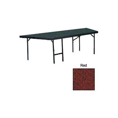 """Stage Pie Unit with Carpet for 36""""W x 24""""H Stage Units - Red"""