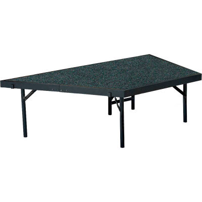 """NPS® Stage Pie Compatible With a 3'x8'x32"""" Stage, Gray Carpet"""