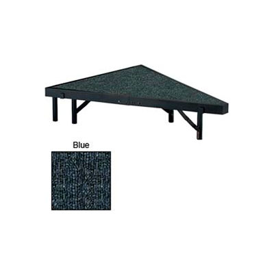 """Stage Pie Unit with Carpet for 36""""W x 8""""H Stage Units - Blue"""