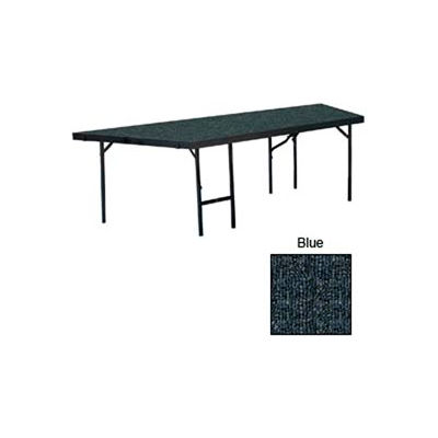 """Stage Pie Unit with Carpet for 48""""W x 24""""H Stage Units - Blue"""