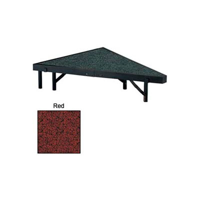 """Stage Pie Unit with Carpet for 48""""W x 8""""H Stage Units - Red"""