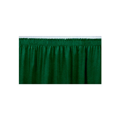 "4'L Shirred-Pleat Skirting for 8""H Stage - Green"