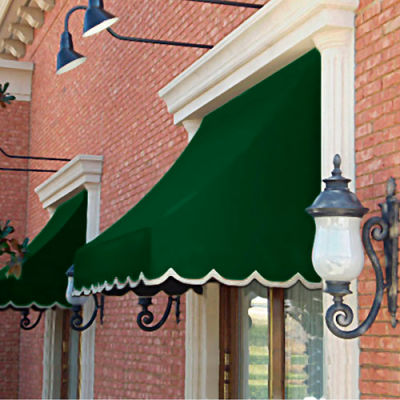 """Awntech NT22-6F, Window/Entry Awning 6' 4-1/2"""" W x 2'D x 2' 7""""H Forest Green"""
