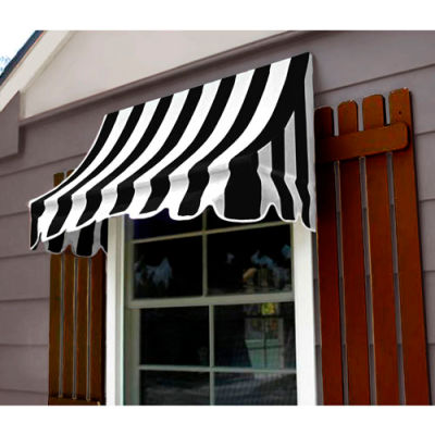 Awntech NT33-8KW, Window/Entry Awning 8-3/8'W x 3-11/16'H x 3'D Black/White