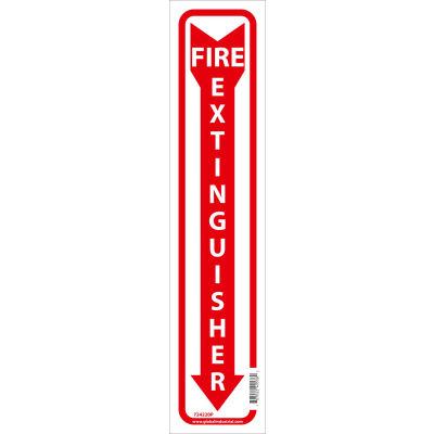 Global Industrial™ Fire Extinguisher Sign, 18x4, Pressure Sensitive Vinyl