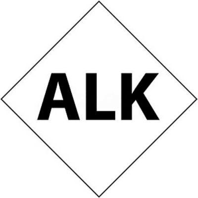 """NMC DCL136 NFPA Label Symbol, Alk, 7-1/2"""" X 7-1/2"""", White/Black, 5/Pk"""