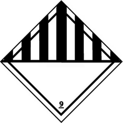 "NMC DL50AP DOT Shipping Labels, Class 9, 4"" X 4"", White/Black, 25 Per Pack"