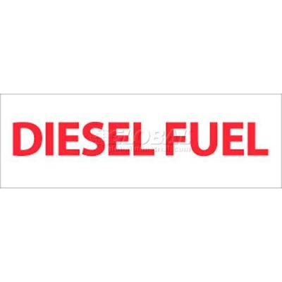 """NMC M47P Safety Sign, Diesel Fuel, 4"""" X 12"""", White/Red"""