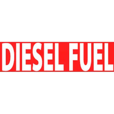"""NMC M728LP Flammable/Combustible Sign, Diesel Fuel, 2"""" X 5"""", White/Red"""