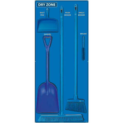 National Marker Dry Zone Shadow Board Combo Kit, Blue/Black,68 X 30, Alum Composite Panel- SBK132ACP