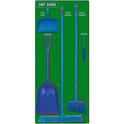 National Marker Dry Zone Shadow Board Combo Kit, Green/Red,68 X 30, Aluminum - SBK134AL