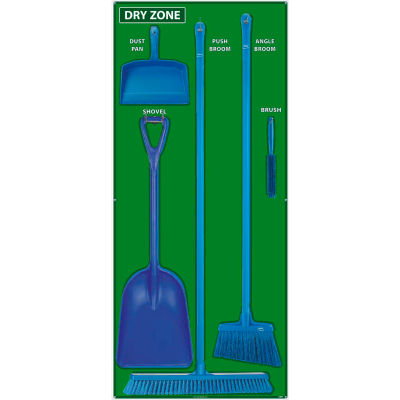 National Marker Dry Zone Shadow Board Combo Kit, Green/Blue,68 X 30, Alum Composite Panel- SBK135ACP