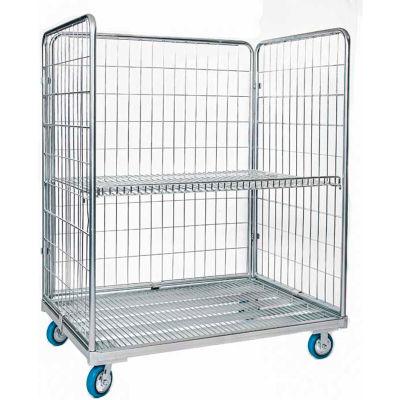 """Nashville Wire Steel Cargo Cart Open Front  48""""W x 32""""D x 60""""H"""