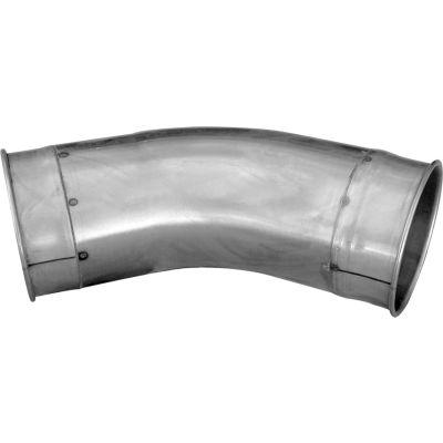 "Nordfab QF Tubed Elbow 45 Degree 1.5 CLR, 6"" Dia, Galvanized Steel"