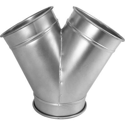 "Nordfab QF Y Branch 30 Degree 4-4-4, 4"" Dia, Galvanized Steel"