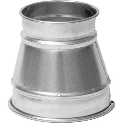 "Nordfab QF Reducer 10-4, 10"" Dia, Galvanized Steel"