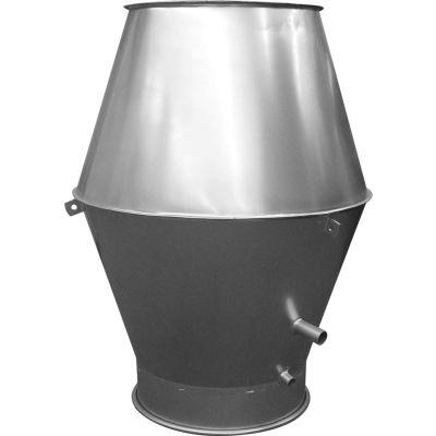 """Nordfab QF Jet Cap, 8"""" Dia, Galvanized Steel"""
