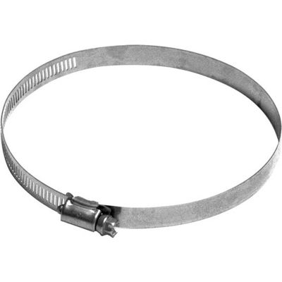 """Nordfab QF Hose Clamp, 5"""" Dia, 304 Stainless Steel"""